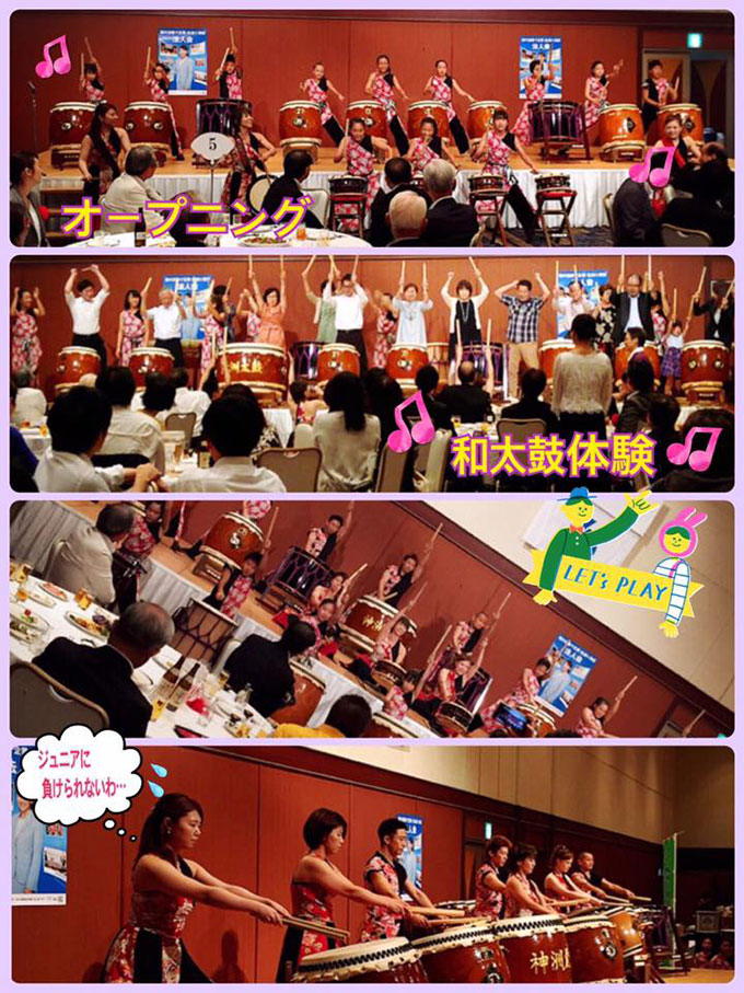 北九州市内のホテルでのアトラクション演奏