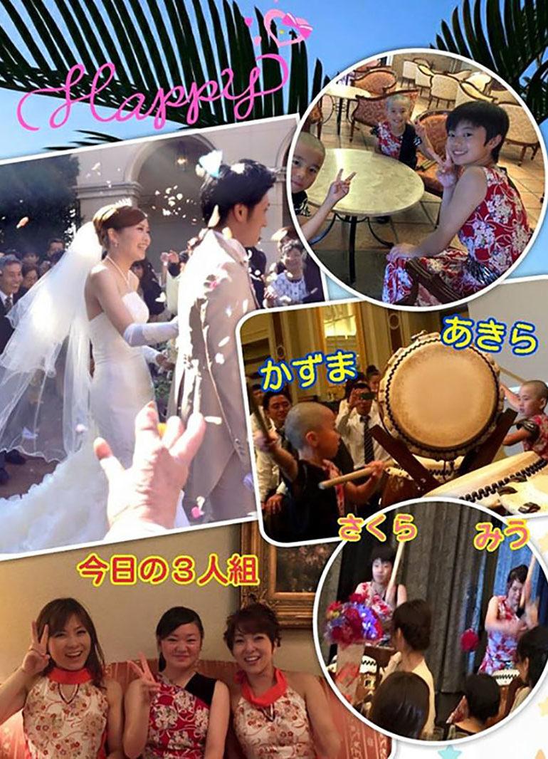 結婚式でのお祝い太鼓